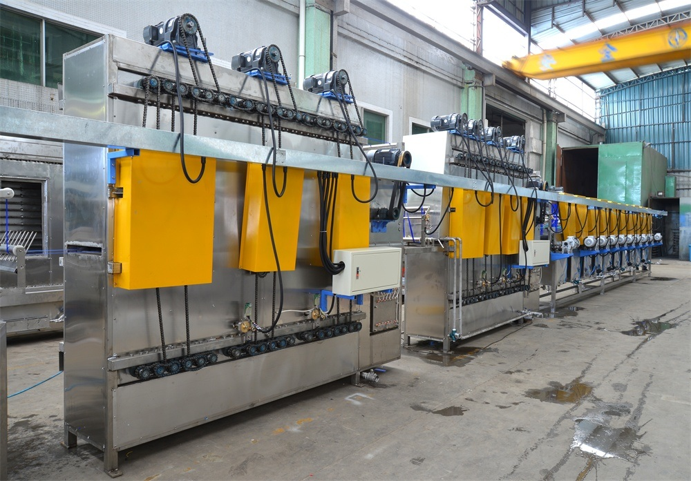 High&Normal Temp Nylon+Polyester Webbings Continuous Dyeing and Finishing Machine