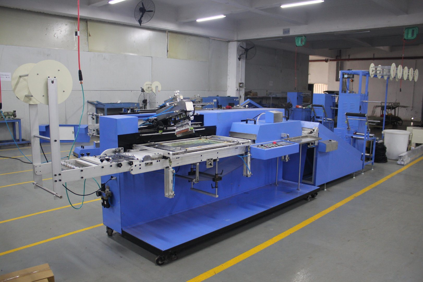 Single Color Satin Ribbons Automatic Screen Printing Machine