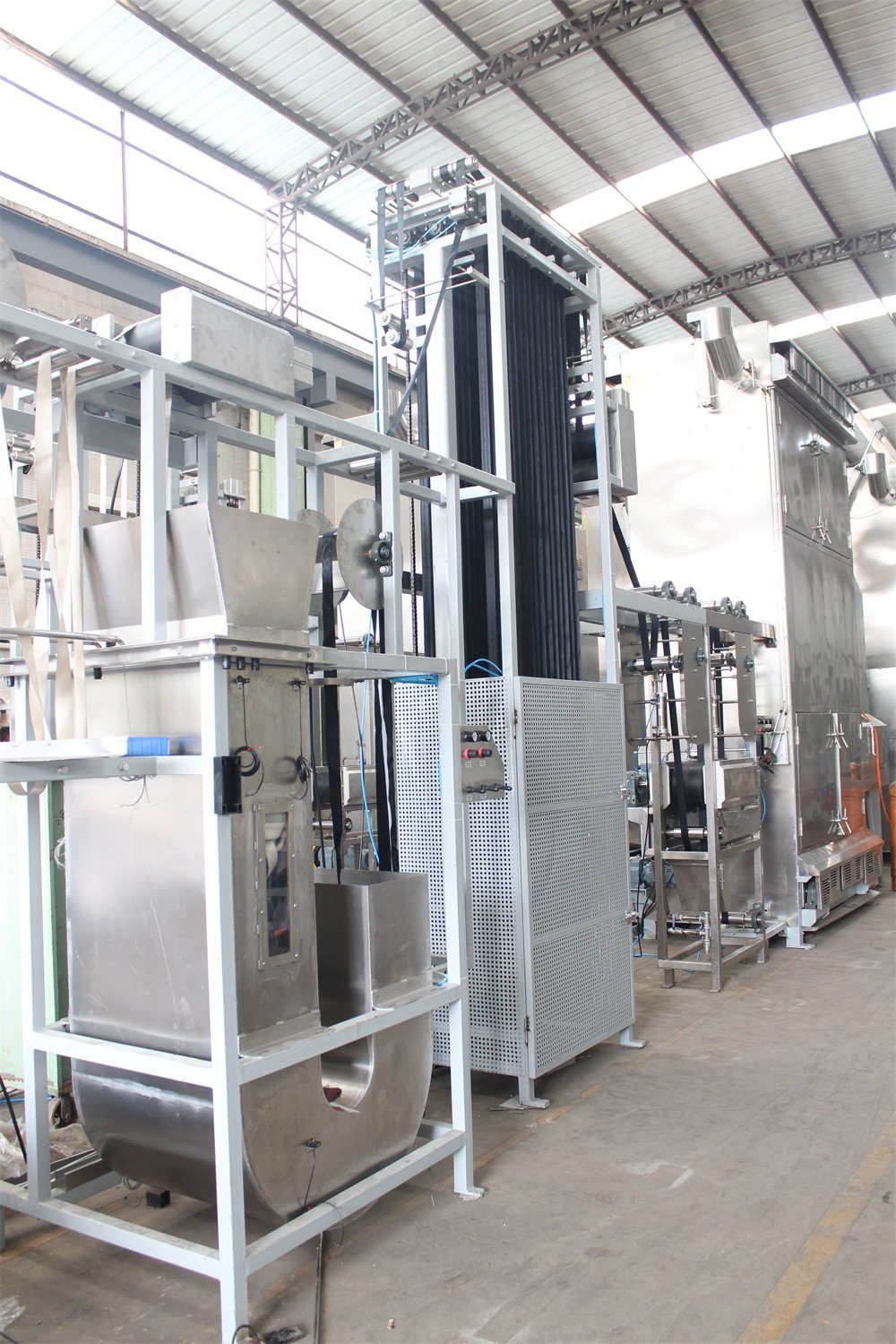 200mm Safety Belt Webbings Continuous Dyeing and Finishing Machine