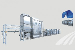 Pets webbings continuous dyeing and finishing machine with CE Certificate