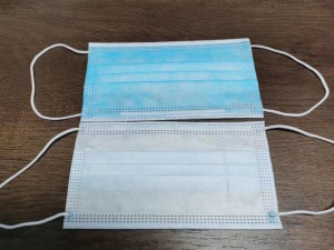 Wholesale Non Woven Fabric 3 Ply Disposable Face Masks Finish Products