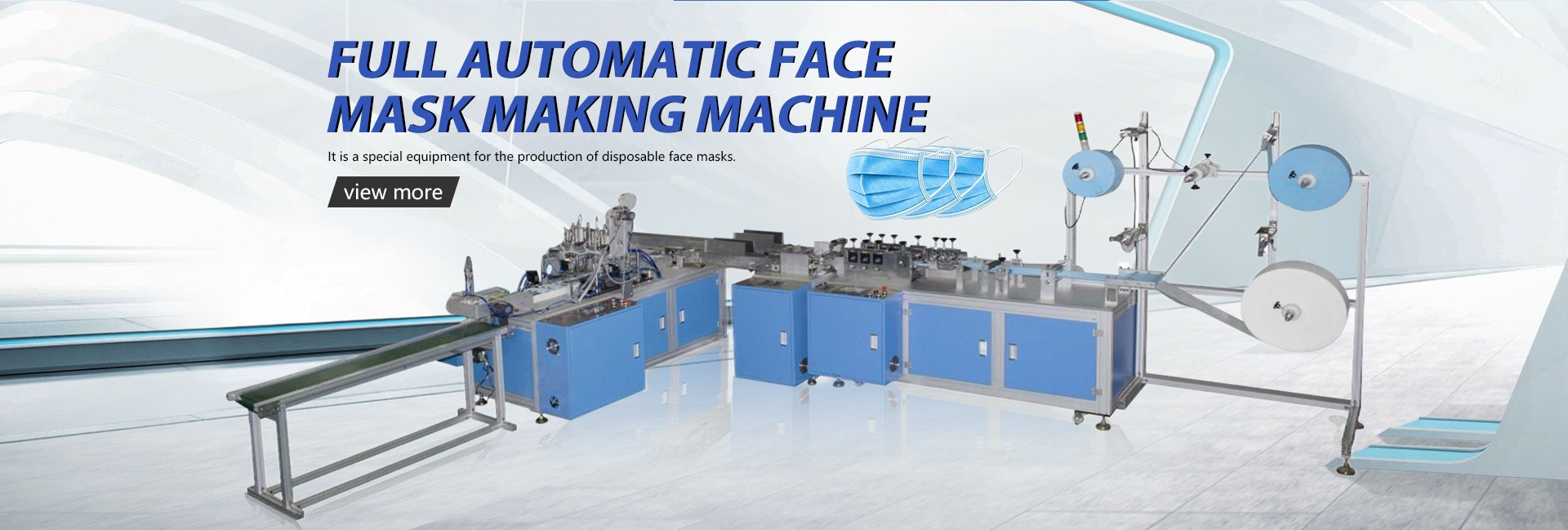 HIGH SPEED FULLY AUTOMATIC SINGLE LINE DISPOSABLE MASK MACHINE