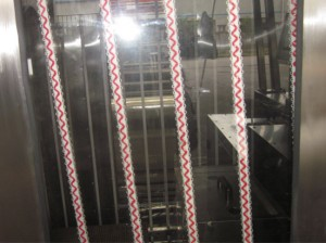 Automatic elastic tapes/laces silicone coating machine KW-200-D